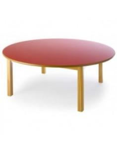 Mesa redonda de madera de...