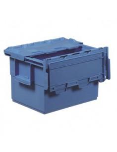 Caja con tapa integrada de...