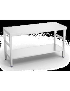 Mesa inoxidable con estante...